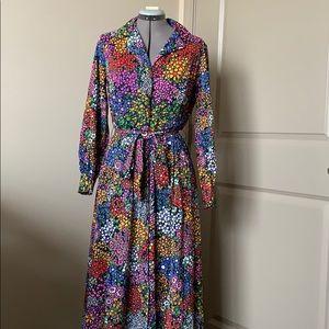 Vintage Vanity Fair Floral Maxi Dress